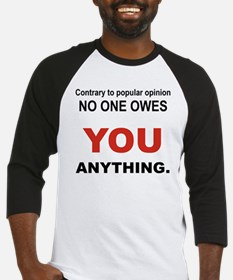 CONTRARY TO POPULAR OPINION Baseball Jersey