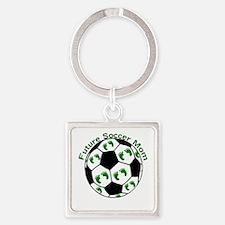 Future Soccer Mom Square Keychain