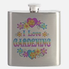 I Love Gardening Flask