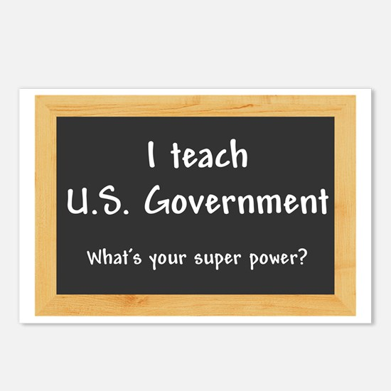 I teach US Government Postcards (Package of 8)