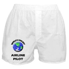 World's Coolest Airline Pilot Boxer Shorts