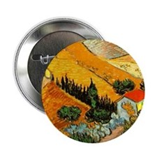 "House and Ploughman 2.25"" Button"