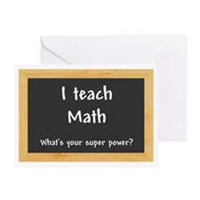 I teach Math Greeting Card