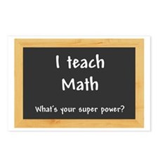 I teach Math Postcards (Package of 8)