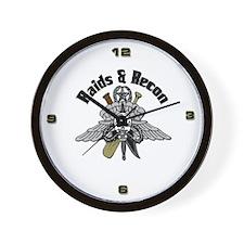 USMC Raids and Recon White Wall Clock