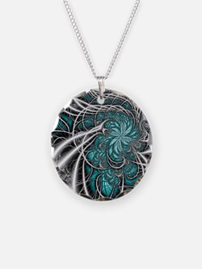 Blue - Puzzle Coaster Necklace