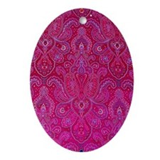 Paisley Jewels Oval Ornament