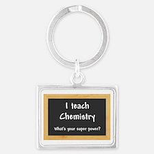 I teach Chemistry Landscape Keychain