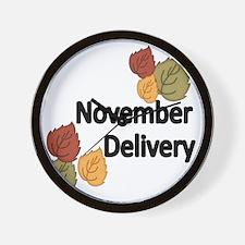 NOVEMBER  DELIVERY Wall Clock