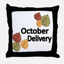 OCTOBER DELIVERY Throw Pillow
