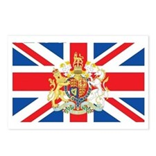 British Flag with Royal C Postcards (Package of 8)