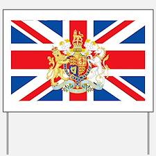 British Flag with Royal Crest Yard Sign