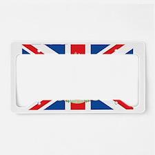 British Flag with Royal Crest License Plate Holder