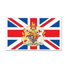 British Flag with Royal Crest Rectangle Car Magnet