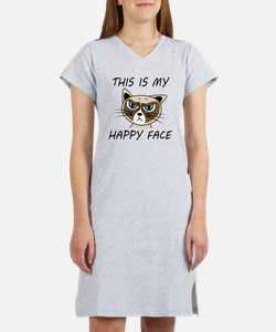 This Is My Happy Face Women's Nightshirt