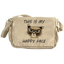 This Is My Happy Face Messenger Bag