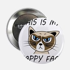 """This Is My Happy Face 2.25"""" Button"""