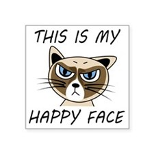"This Is My Happy Face Square Sticker 3"" x 3"""