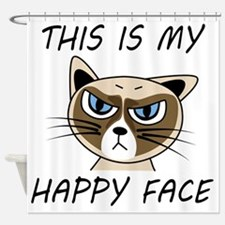 This Is My Happy Face Shower Curtain