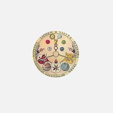 Rosicrucian Rose Mini Button