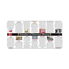 Ottoman History Timeline Aluminum License Plate