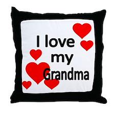 I LOVE MY GRANDMA 2 Throw Pillow