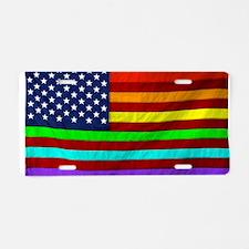 Gay Rights Rainbow Patrioti Aluminum License Plate