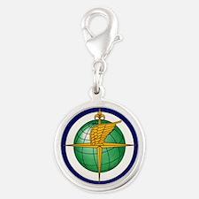 FAA logo Silver Round Charm