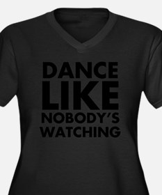 Dance Like N Women's Plus Size Dark V-Neck T-Shirt