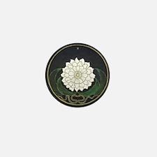 Golden Flower Mandala Mini Button