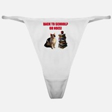 Back to school cat Classic Thong