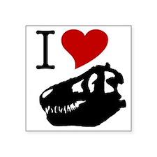 """I Love Fossils Square Sticker 3"""" x 3"""""""