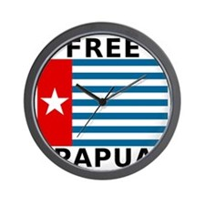 Free Papua Flag Wall Clock
