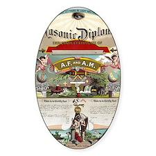 Masonic Diploma Decal