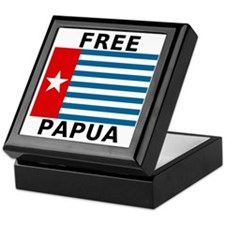 Free Papua Flag Keepsake Box