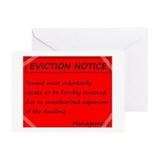 Eviction Notice - unauthorized expan Greeting Card