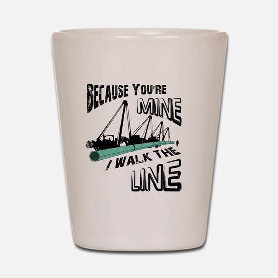 I Walk The Line Shot Glass
