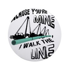 I Walk The Line Round Ornament