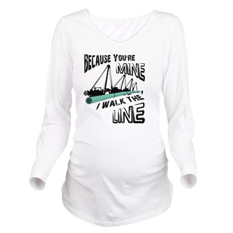 I Walk The Line Long Sleeve Maternity T-Shirt