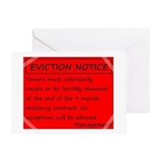 Eviction Notice - 9 month contract Greeting Card