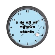 FUNNY STUNTS Wall Clock