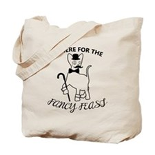 Fancy Cat (on white) Tote Bag