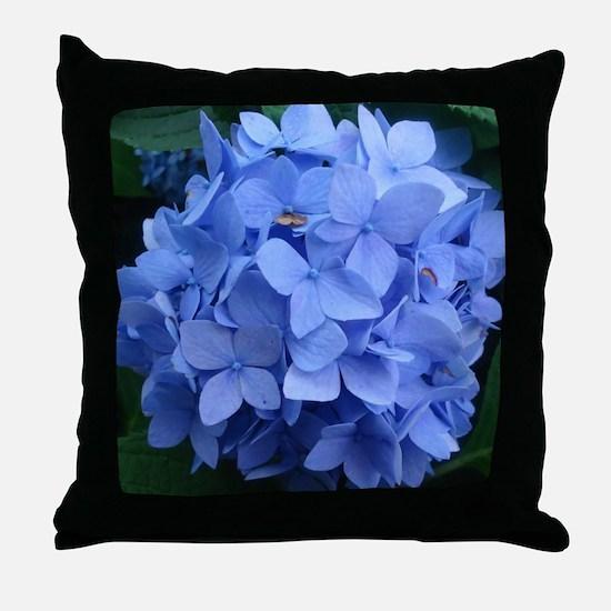Blue Violet Hydrangea Throw Pillow