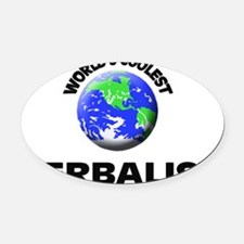 World's Coolest Herbalist Oval Car Magnet