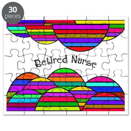 retired nurse blanket abstract Puzzle