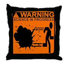 SCIENCE IN PROGRESS Throw Pillow