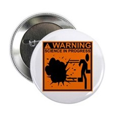 """SCIENCE IN PROGRESS 2.25"""" Button (10 pack)"""