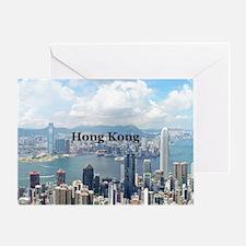 HongKong_5x3rect_sticker_HongKongFro Greeting Card
