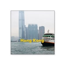 """HongKong_5.415x7.9688_iPadS Square Sticker 3"""" x 3"""""""
