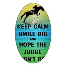 Keep Calm, Smile Big Horse Show Decal